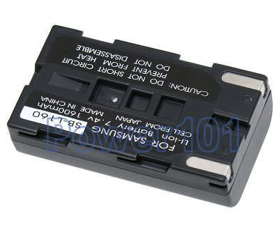 SB-L160 battery for Samsung Li-Ion 7.4V 1600mAh
