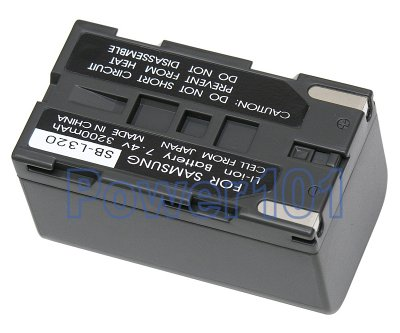 SB-L320 battery for Samsung Li-Ion 7.4V 3200mAh
