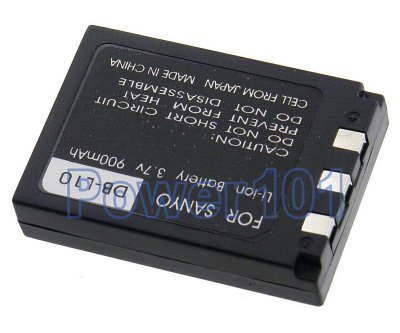 DB-L10 battery for Sanyo Li-Ion 3.7V 900mAh