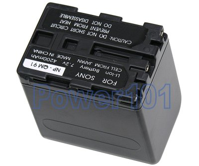 NP-QM91/FM91 battery for Sony Li-Ion 7.2V 4200mAh