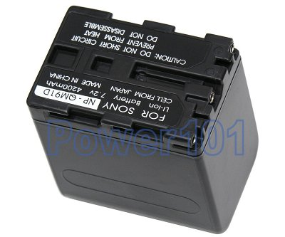 NP-QM91D battery for Sony Li-Ion 7.2V 4200mAh with LED